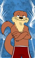 Dean Wilson: Laid-back Animalympic Otter by JintheWolf