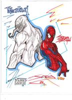 Spiderman And Venom by MetaWorks
