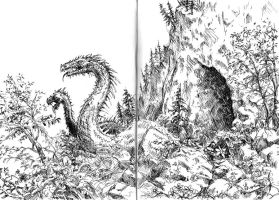 Sketch: Dragons issue forth by woutart