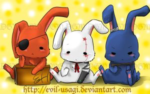 +D.Gray-man bunnies+ by Evil-usagi