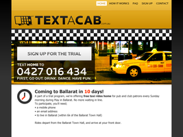 Text-a-Cab by BlakliteGraphics