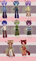 Points Adoptables 3 1/9 LEFT by Kurikipi