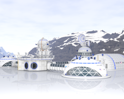 Ice Base - Iray Test by sith-kitten