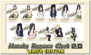 Hanako Ikezawa Clock WAIFU EDITION PREVIEW by Jailboticus