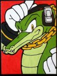 Vector the Crocodile painting by TheScarecrowOfNorway