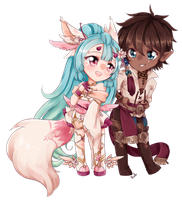 C:: Seilah and Fiore by bunnilu