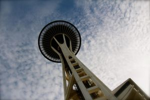 Space Needle by athenaowl1999