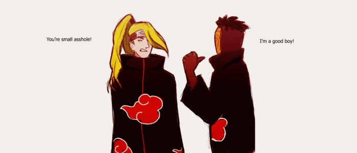 Toby and Deidara by Sonmoray