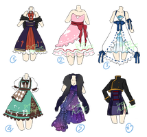 Adoptable : Random dresses [CLOSED] by ZylenXia