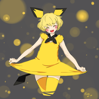 Smiling Pichu by GnagnaParadeProject