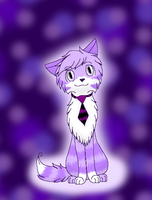 The Purple Cat with a Tie by GardevoirLoverHope