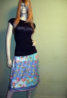 Care Bears Patchwork Skirt by RedheadThePirate