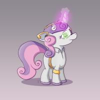 Sweetie Belle from the 31st Century by SubjectNumber2394