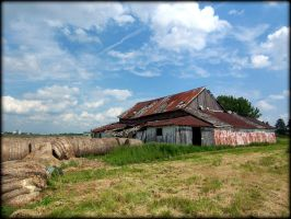 Old Farm color by AudraMBlackburnsArt
