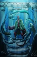 Hellboy and the Mermaids by roseandthorn