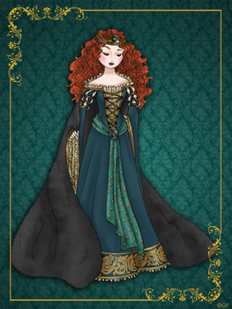 Queen Merida - Disney Queen designer collection by GFantasy92