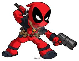 Chibi Deadpool by JaeyRedfield