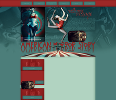 American Horror Story layout by VelvetHorse