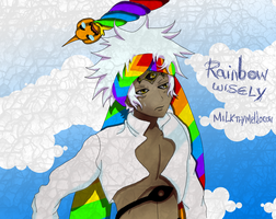 Rainbow Turban Wisely by MILKthyMELLOcow