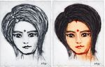 Girl portrait sketch by SubhadipKoley