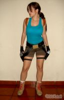 Lara Croft standing by Val-Raiseth