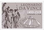 Leonardo da Vinci Stamp by Kmydesign