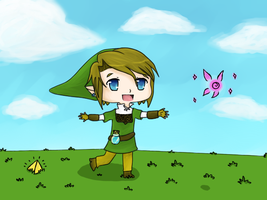 .:Chasing a fairy:. by Hylian-Of-Dreamz