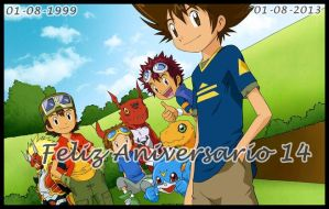 Feliz Aniversario Digimon by lisetz