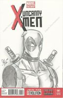Deadpool Sketch Cover by PonyGoddess