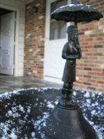 Bird Fountain Lady I by LithiumStock