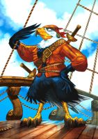 Pirate Eagle by MuratCALIS