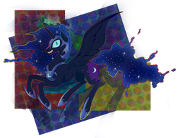Nightmare Moon (creepy version) by PegaSisters82