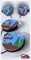 Super Mario headphones by Ketchupize