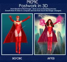 Scarlet Witch - Postwork Meme by poserfan
