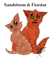 Sandstorm and Firestar by Shadowgaze