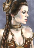 Slave Leia 5x7 by AshleighPopplewell