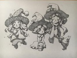 Witches by Nightblue-art