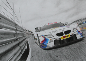 BMW M3 DTM drawing by iRecGraphics