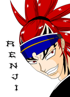 Abarai Renji Colored by LadyOCloud7