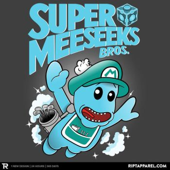 Super Meeseeks Bros. by LavaLampCreative