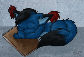 Sleeping Fox Colored by Hawkein