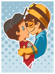TF2 scout x engineer by Captain-By-Moonlight