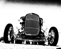 Street Rod In Abstract by tundra-timmy