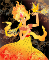 Flame Princess -Color- by Silverfox0986