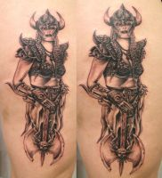 1 Session Viking Women TaT by 2Face-Tattoo