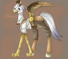 Steampunk Silverquill by Feyrblessed
