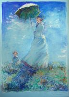 Monet Woman with Parasol study by zersen