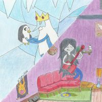 Gunter+Ice King+Marceline by Umi-Tatsuky