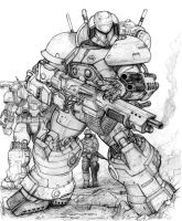 RIFTS NG SAMSON power armor block III by ChuckWalton