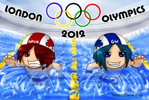 Chi and Drey at the Olympics by Samuraiflame
